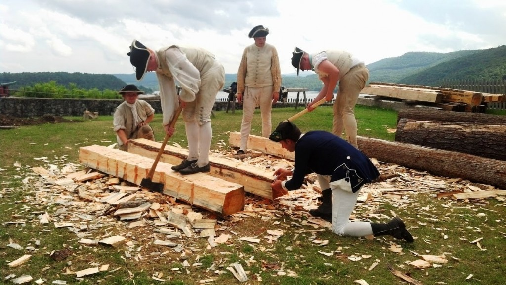 Fort Ticonderoga event features hut building in 1776