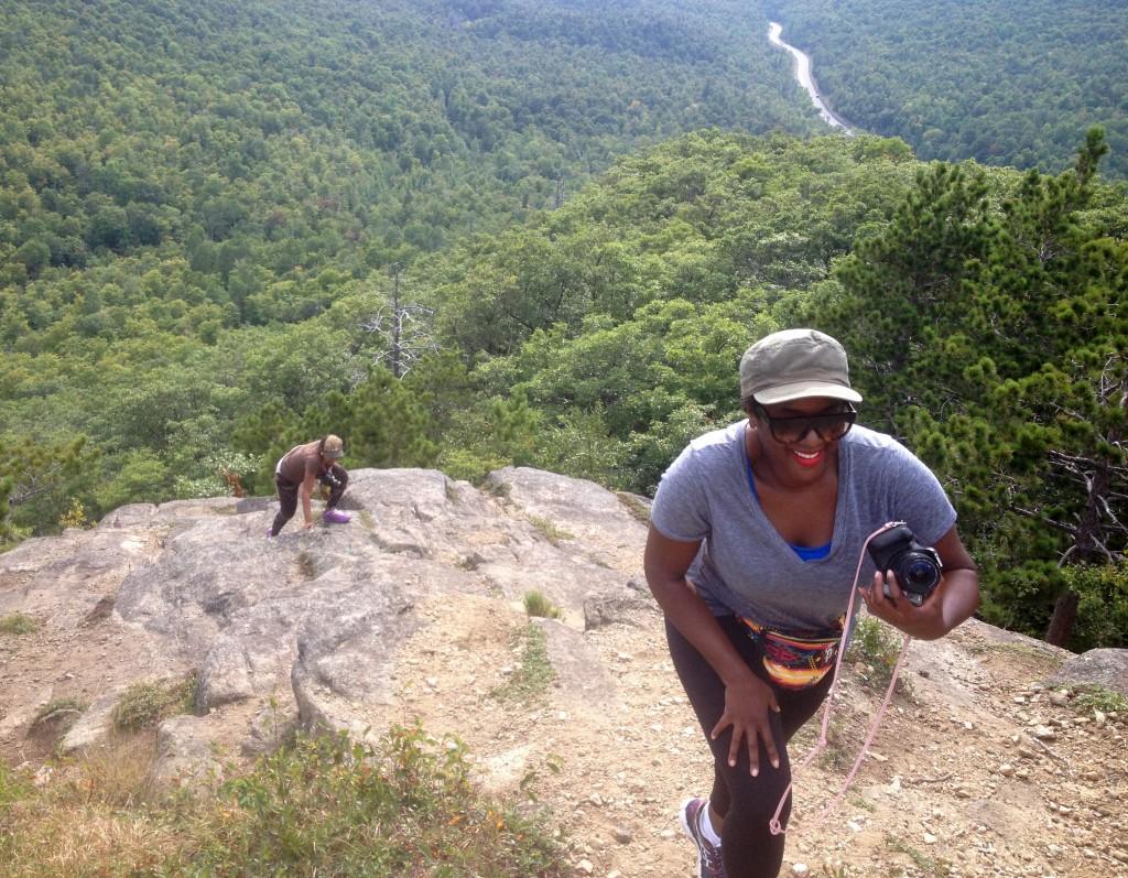 Beauty Blogger hikes Owls Head