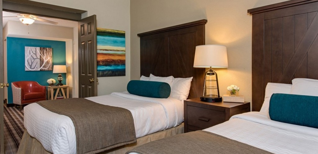 One of the newly renovated rooms at the Hotel North Woods.
