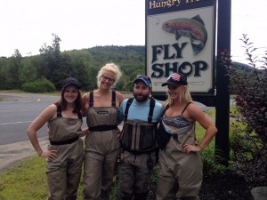 """Bloggers """"tied"""" their hand at fly fishing in Wilmington."""