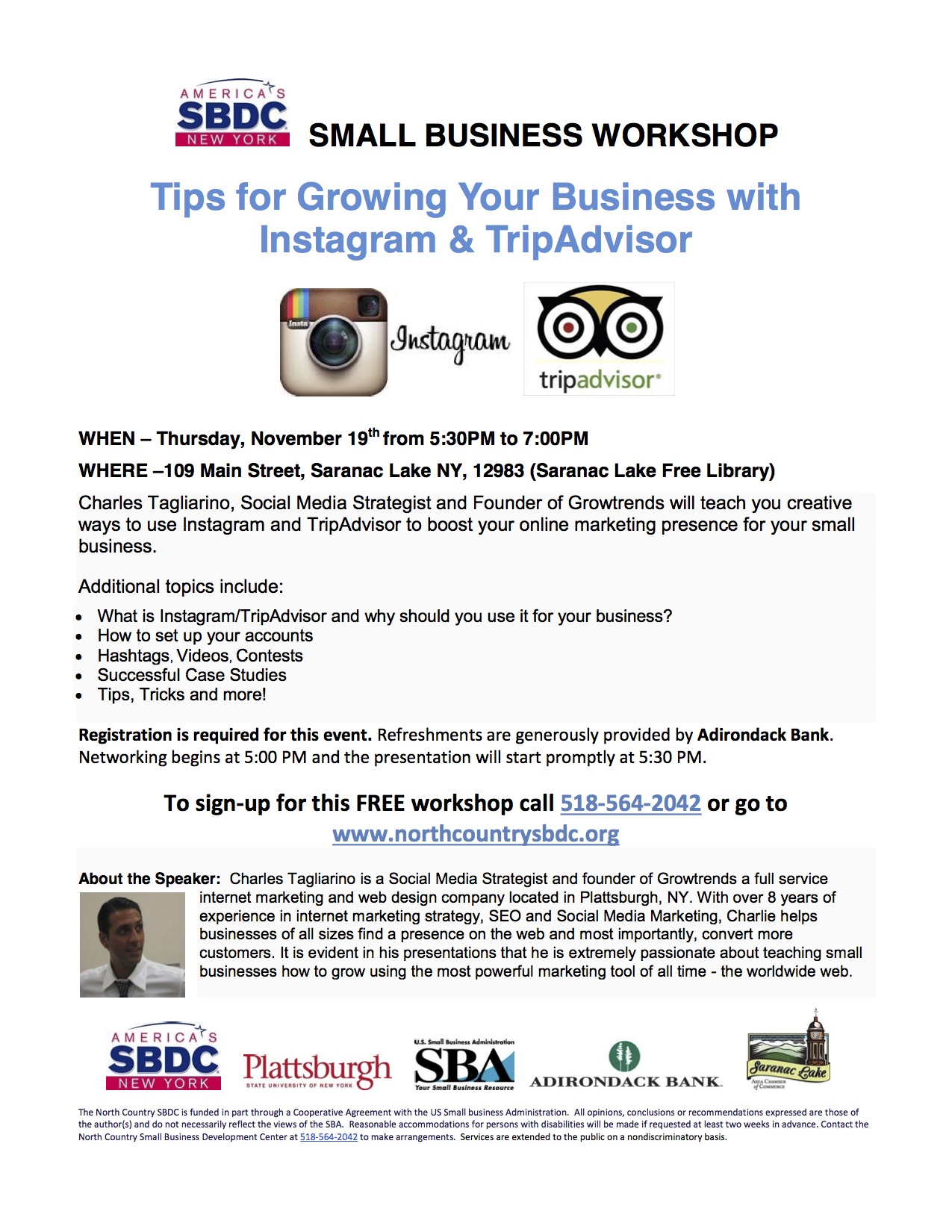 Workshop On Growing Your Business With Instagram And Tripadvisor