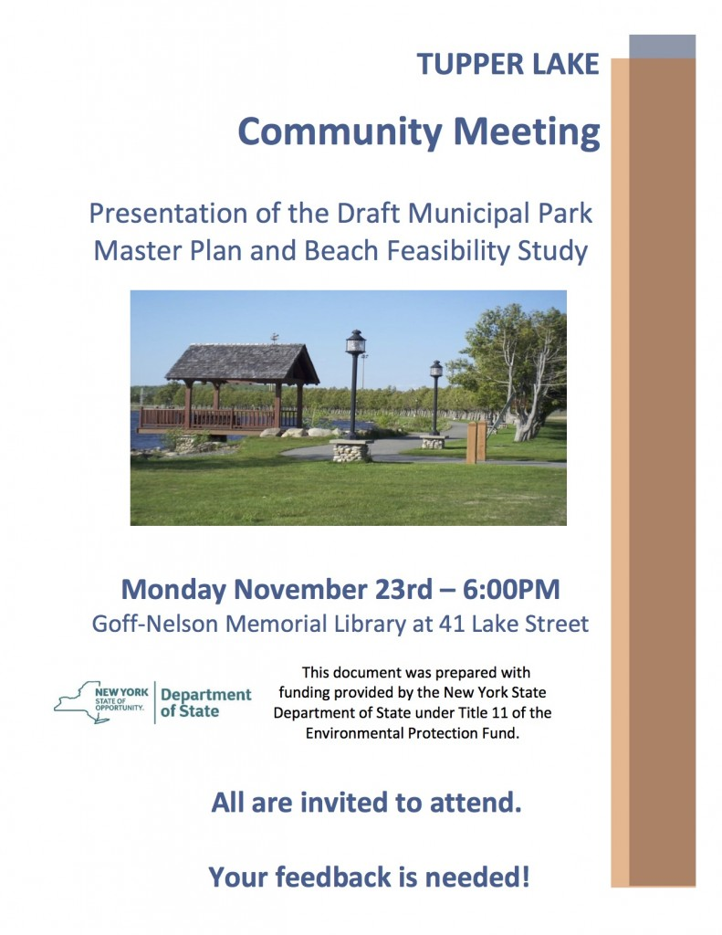 November 23rd Community Meeting Flyer
