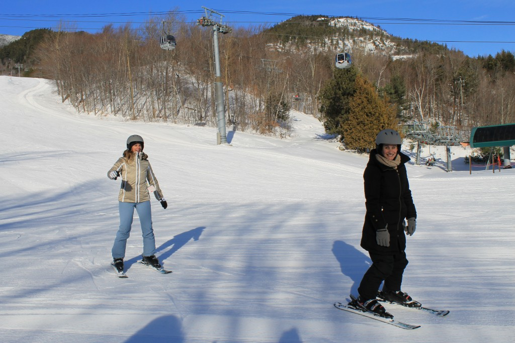 Susan skied for the first time — and she did great!