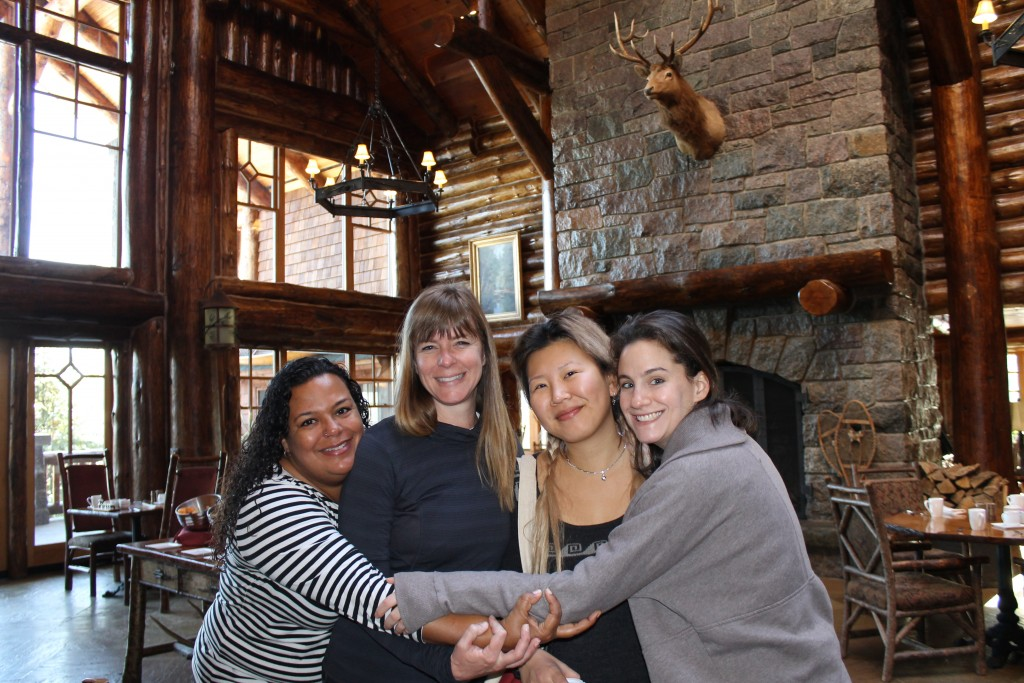 Carol Cain, Susan Barnes, Ko Im and Maggie Parker had a great time staying at the Whiteface Lodge!