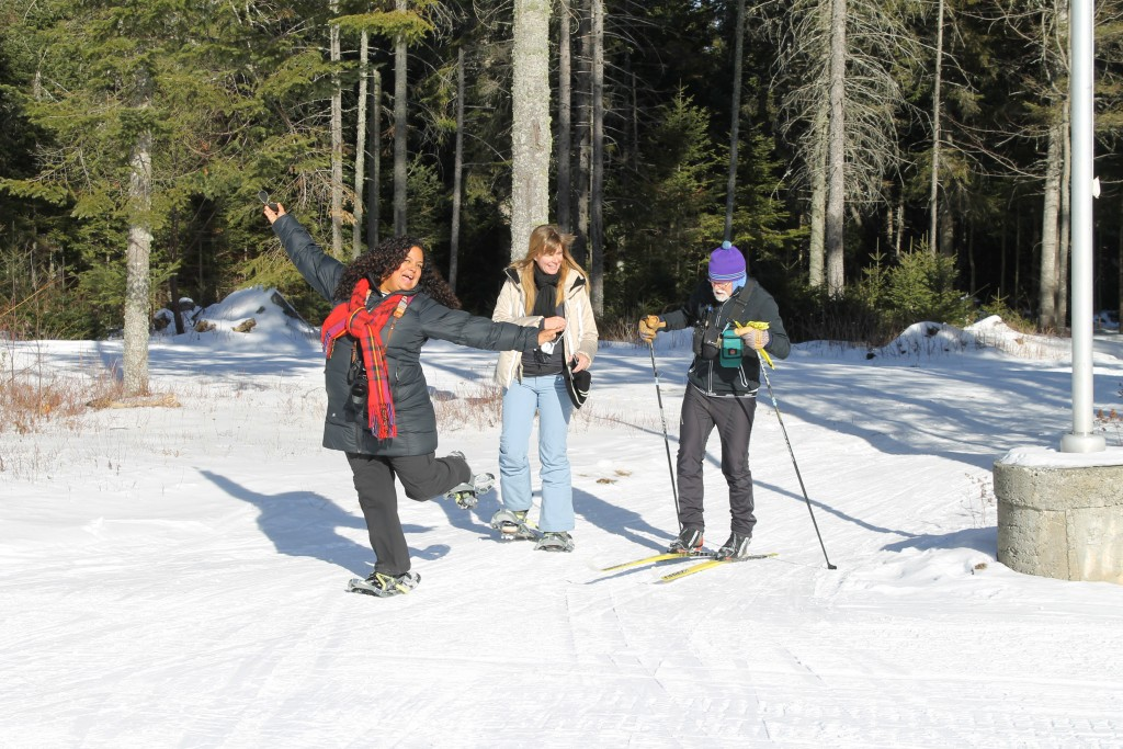 Carol and Susan had a great time snowshoeing with a local expert.