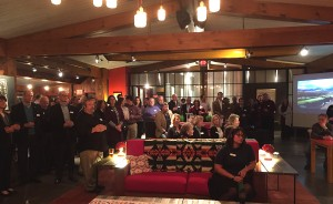 Attendees gathered at The Lake House in Lake Placid for the 2016 ROOST Annual Meeting and Winter Social.