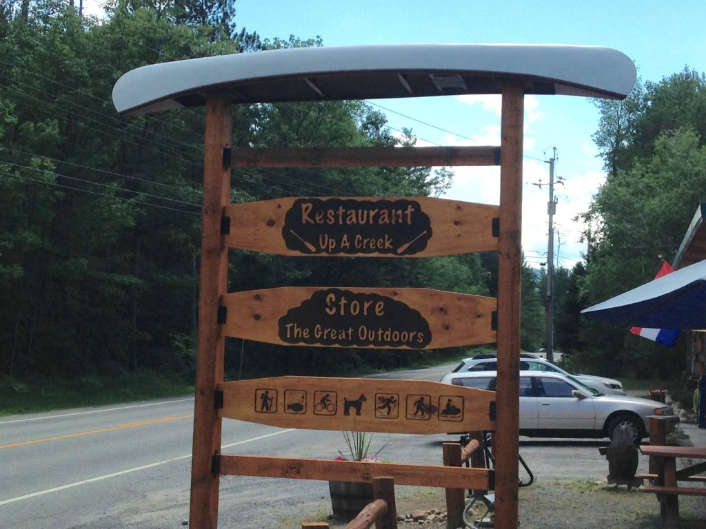 New sign at Up a Creek Restaurant