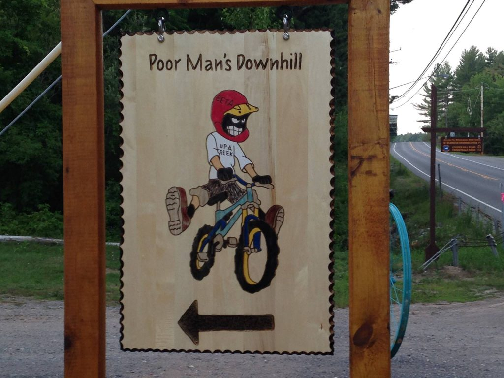 Poor Man's Downhill sign
