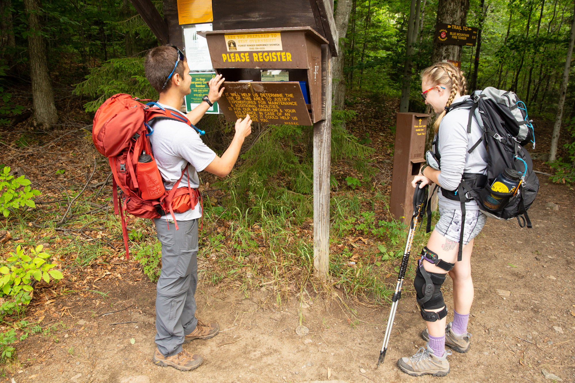 Leave No Trace ADK - Sign In At Trailheads