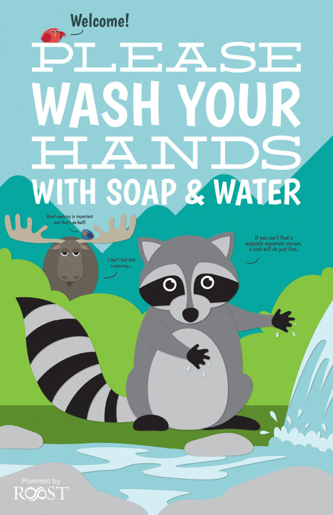 Politely Adirondack Hand Washing Sign (COVID-19)