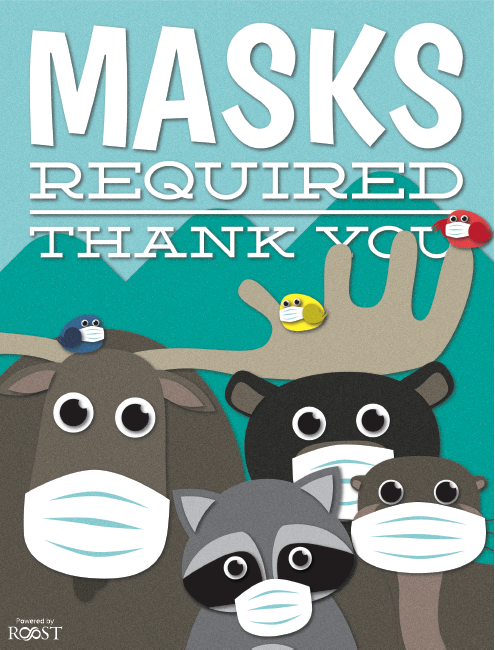 The Politely Adirondack Animals - Masks Required, Thank You.
